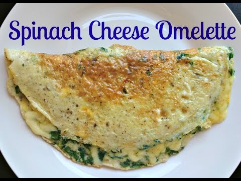 Spinach Cheese Omelette | Healthy Snacks | How to make spinach omelette