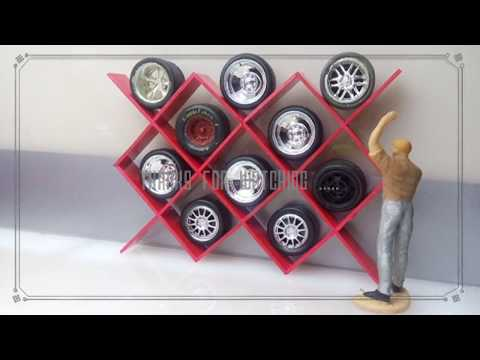 Diecast vlog Indonesia , how to make tools diorama 1:43 scale model, tyre and wheels display