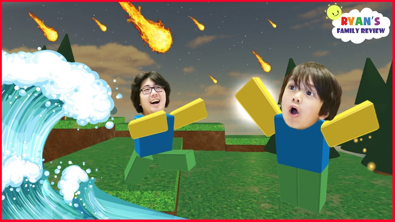 Family Game Night Let S Play Roblox Natural Survival Disaster