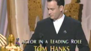 tom hanks wins best actor 1995 oscars