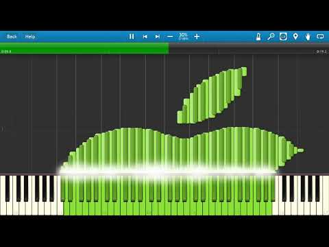 apple logo on synthesia (midi art)