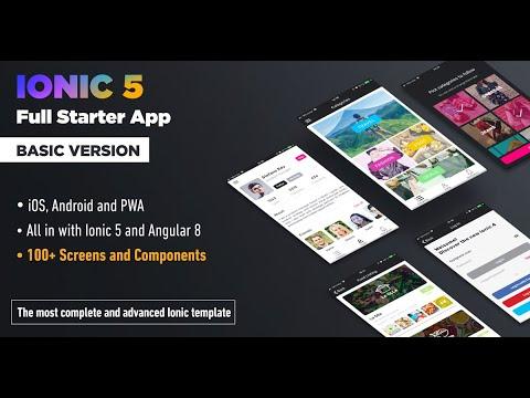Ionic 4 Full Starter App - Ionic Premium Template and PWA