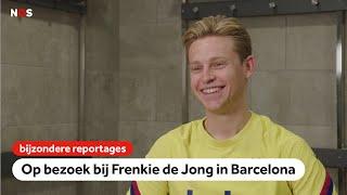 Op bezoek bij Frenkie de Jong: 'Ik zeg niet tegen Messi hoe hij moet spelen'   NOS Sport