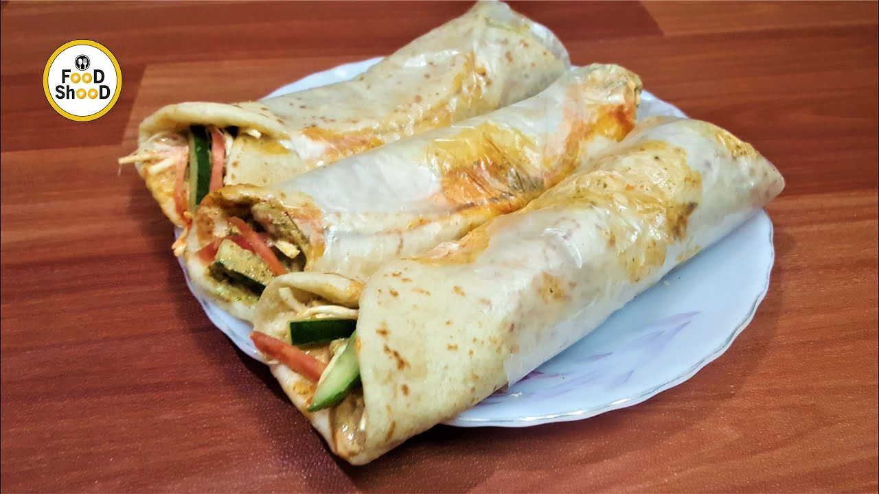 Chicken Shawarma Recipe At Home - Homemade Chicken Shawarma - Food Shood