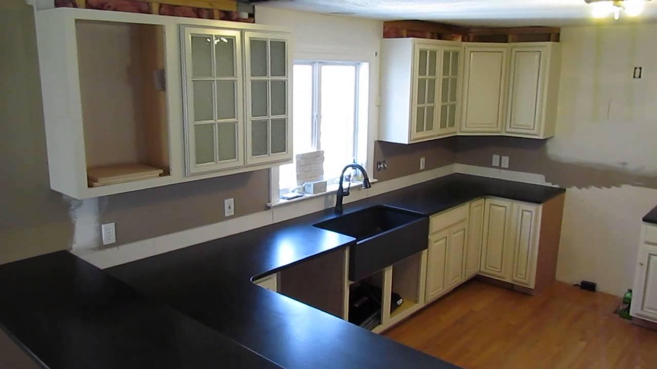 Custom Made Absolute Black Granite Counter Top W ... on Black Granite Countertops  id=58830