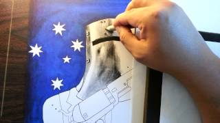 How to draw Ned Kelly