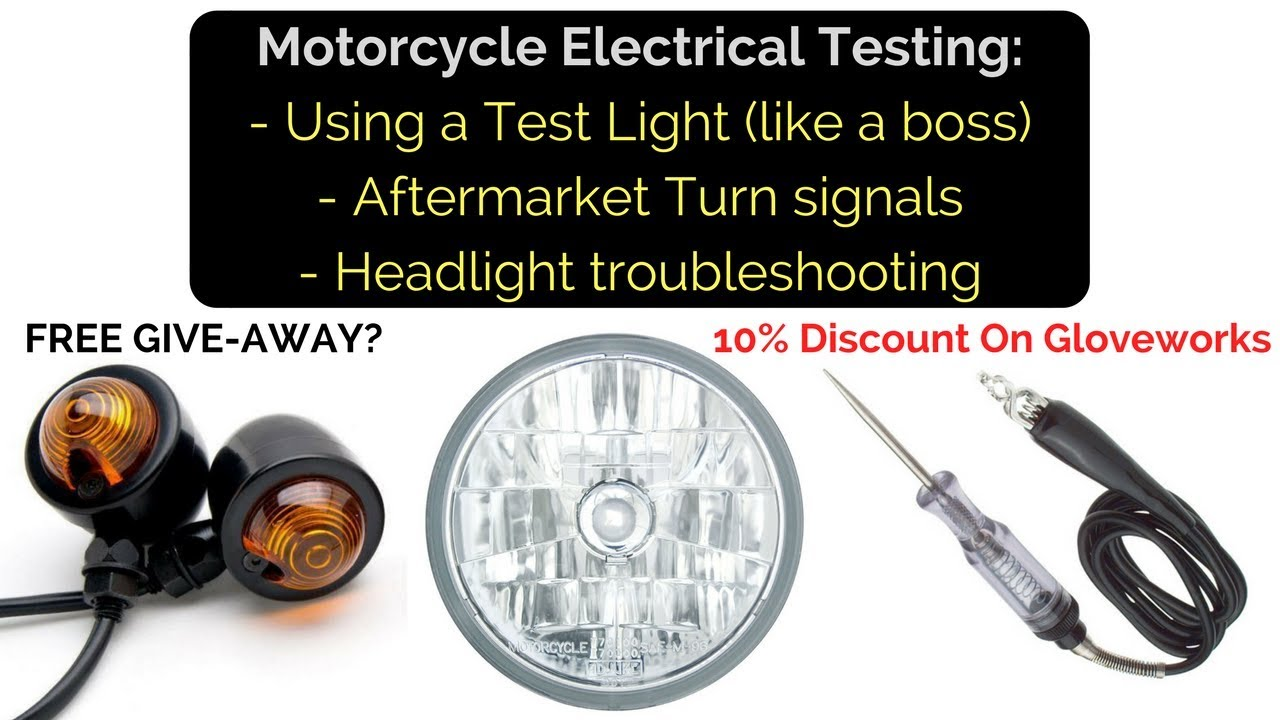 medium resolution of motorcycle electrical test lights turn signals and electrical issues