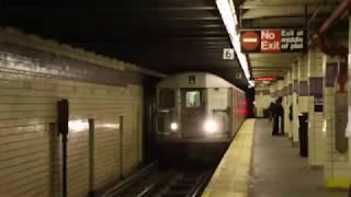 MTA NYC Subway C train arriving at Euclid Ave