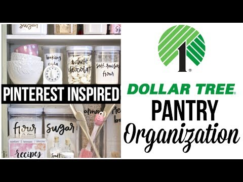 Dollar Tree Pantry Organization | Pinterest Inspired