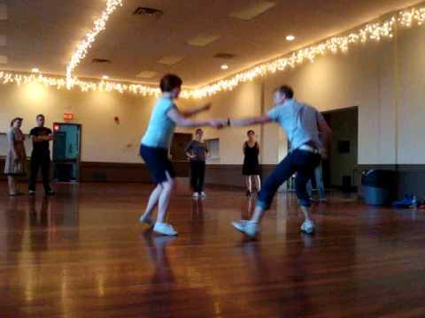 Swing Dance Calgary Meg & Eric Fast Lindy Demo