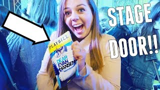 SEEING DEAR EVAN HANSEN ON BROADWAY + STAGE DOOR!!