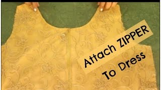 How To Attach Zipper To A Dress