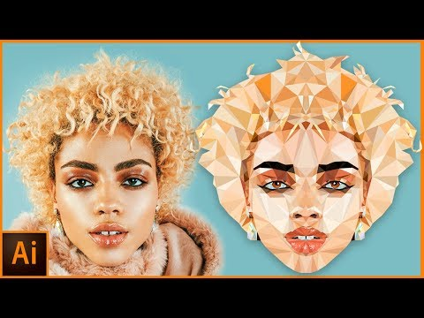 Illustrator Tutorial : Creating a Low Poly Portrait