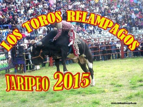 LOS TOROS RELAMPAGOS EN EL JARIPEO SAN ANDRES TZIRONDARO 2-DIC- 2015