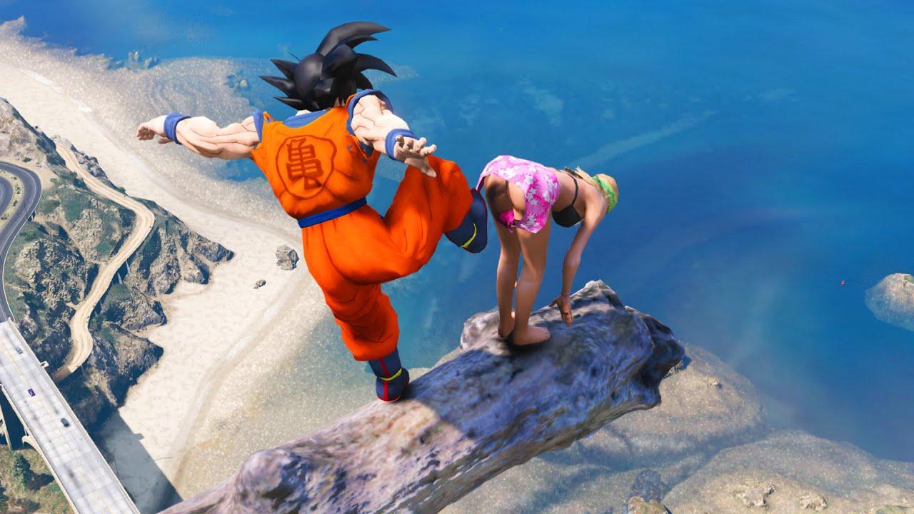 GTA 5 Crazy Ragdolls Dragon Ball | Goku Jumps/Fails #3 (Euphoria Physics)