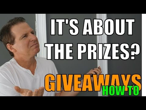 It's All About The Prize, How To Do GIVEAWAYS, Part 3 (YouTuber Law #53)
