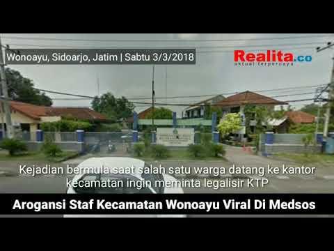 Arogansi Staf Kecamatan Wonoayu Terekam Video
