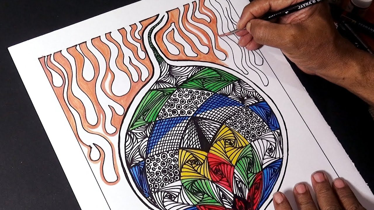 Easy Abstract Doodle Art