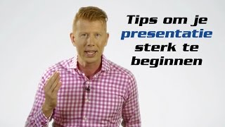 Hoe een presentatie beginnen?