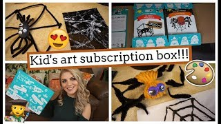 Unboxing & Review of ToucanBox! Art Subscription Box for Kids!