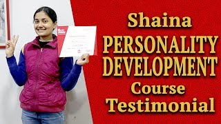Shaina Personality Development Course Testimonial at IELTS Learning