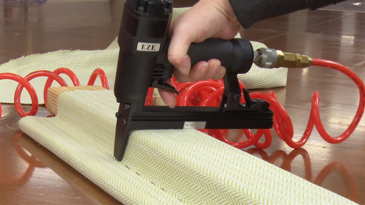 Eze Tc 08 Long Nose 1 2 Crown Staple Gun Demo Youtube