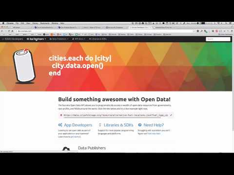 Finding APIs with Socrata – Developer Spotlight - YouTube
