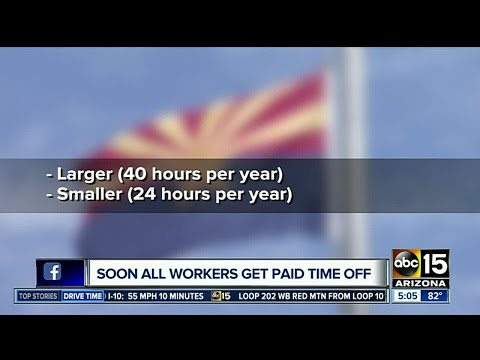 New paid time off rules effective this summer in Arizona