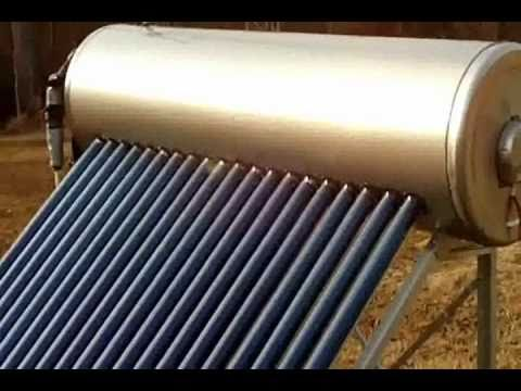 Evacuated Tube, Pressurized, Stand-Alone Solar Water Heater
