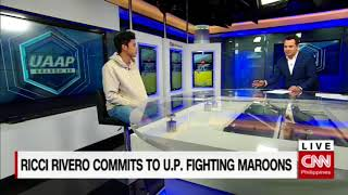 Ricci Rivero commits to U.P. Fighting Maroons