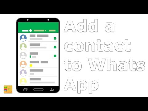 How to add a new contact in WhatsApp - YouTube