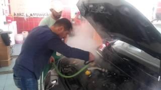 Buhar ile   Motor temizleme