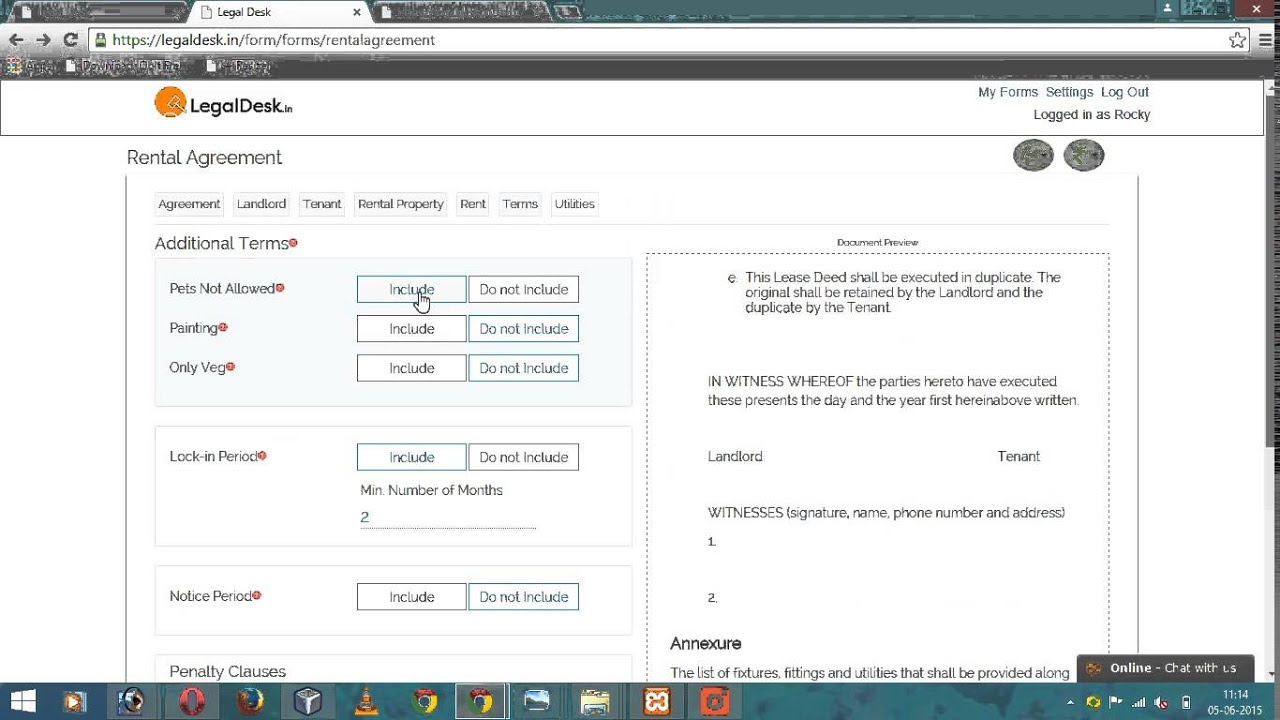 How To Make Rental Agreement In India Youtube