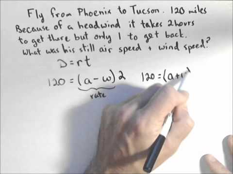 Systems of equations airspeed and wind speed youtube systems of equations airspeed and wind speed ibookread PDF