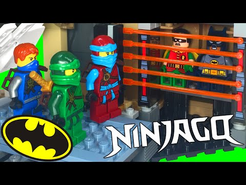 LEGO Batman and Robin Invade in Samurai X Cave Chaos with the Green Ninja
