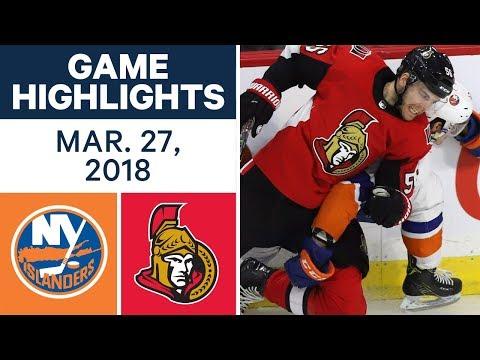 NHL Game Highlights | Islanders vs. Senators - Mar. 27, 2018