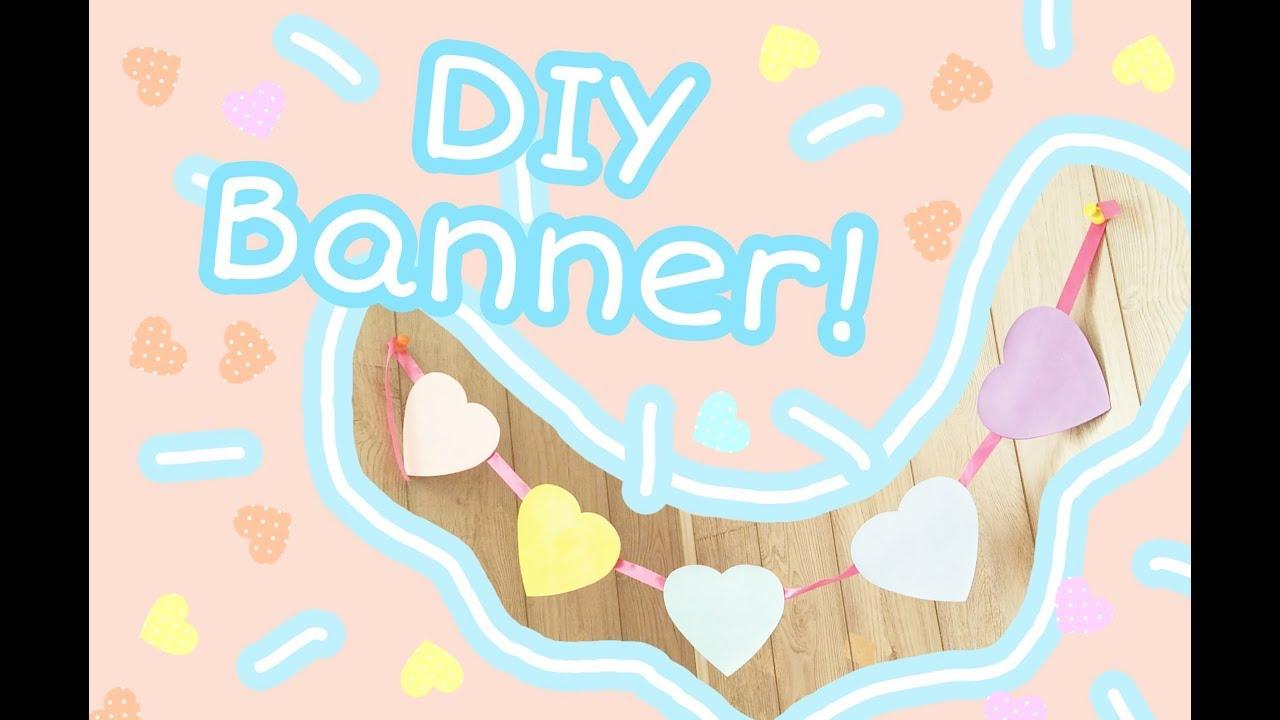 DIY Cute Pastel HEART BANNER Fairy Kei Pastel Aesthetic Room Decor