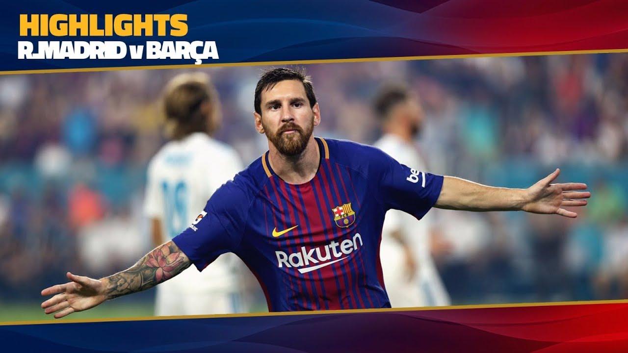 aa1f415f349 HIGHLIGHTS  FC Barcelona - Real Madrid (3-2) ICC 2017 - YouTube
