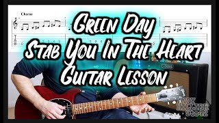 How to play Green Day - Stab You In The Heart Guitar Lesson with TAB