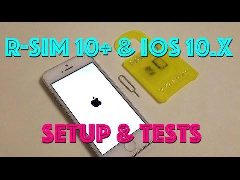 R-SIM 10+  GSM 2/3/4G Unlock Setup & Tests iOS 9.3.x - 10.2 解鎖蘋果手機