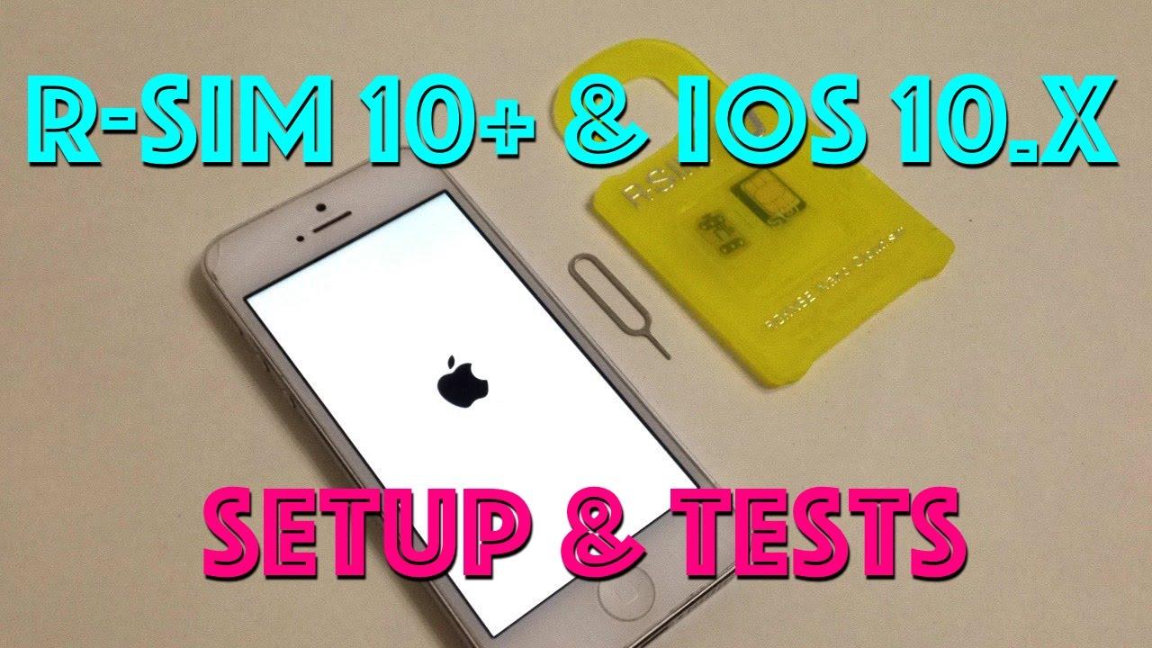 R-SIM 10+ GSM 2/3/4G Unlock Setup & Tests iOS 9 3 x - 10 2 解鎖蘋果手機