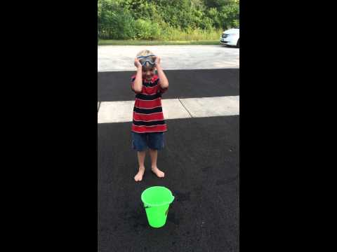 Connor McCabe was challenged to the ALS ice bucket challenge by Camden McCloskey