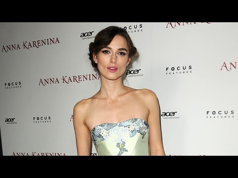 Keira Knightley at Anna Karenina Premiere, Wedding Prep