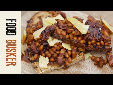 Homemade Beans On Toast Recipe With Bacon   Food Busker