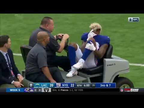 Odell Beckham Jr.  Crying and carted off field after nasty Injury