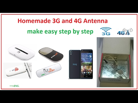 How to make powerful 3G and 4G antenna at home - Easy step by step