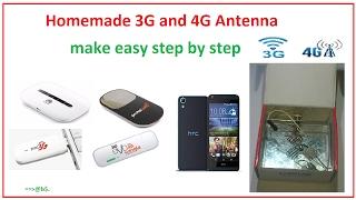 كيفية جعل قوية الجيل الثالث 3G و 4G الهوائي في المنزل سهلة خطوة بخطوة