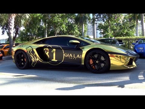 lamborghini aventador lp700 4 insane huge revs shooting flames black gold beast at toy rally 2014 youtube