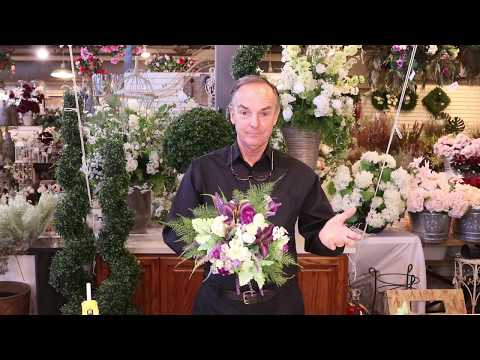 HOW TO Make An EASY And BEAUTIFUL Silk Wedding Bouquet | Artificial Flowers From Silk Scapes