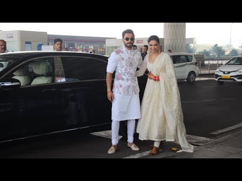 Deepika Padukone Grand Entry In Mangalsutra With Ranveer Singh At Airport For Wedding Reception